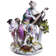 Meissen Figure of the Muse Terpsichore, by Kaendler, circa 1745