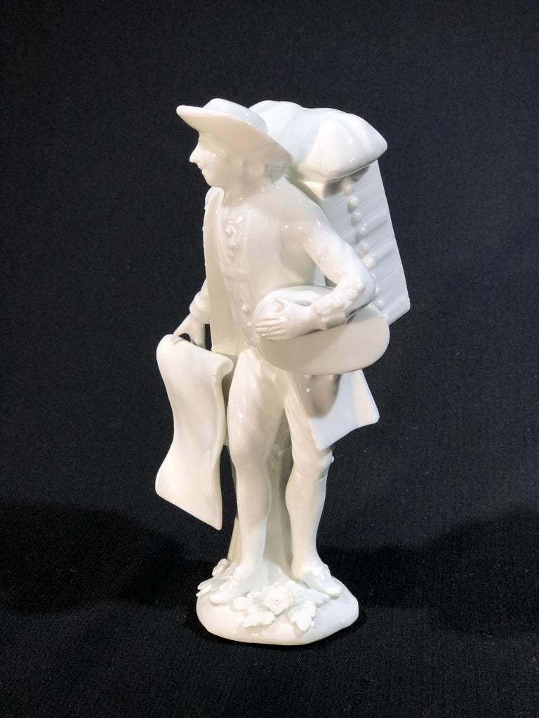 Meissen Figure of the 'Print Seller', in the White, circa 1750 For Sale 6