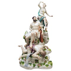 Meissen Figurines Hercules and the Queen of the Amazons Kaendler or Acier, 1770