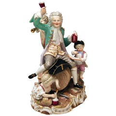 Meissen Figurines The German Bacchus Model D 13 Johann C. Schoenheit, circa 1880