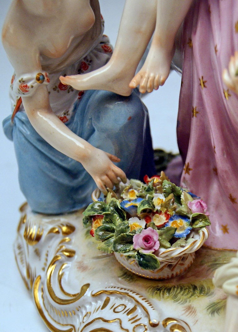 Meissen Figurines The Rape of Europe Model 2697 by Eberlein Made circa 1860 For Sale 2