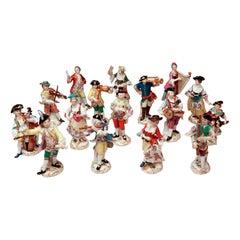 Meissen Gallant Orchestra Complete Figurines Johann Kaendler Friedrich E. Meyer