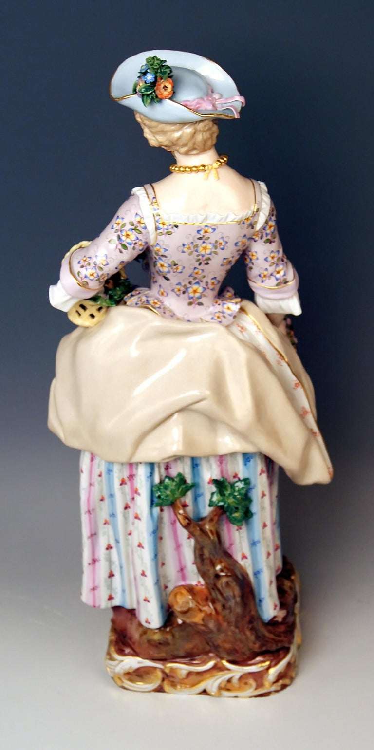 Meissen Gardeners Couple Male Female Models 2868 B 65 Kaendler Schoenheit, 1870 In Excellent Condition For Sale In Vienna, AT