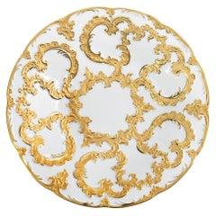Meissen Gold Decor Porcelain Plate