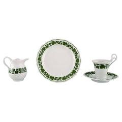 Meissen Green Ivy Vine Leaf Egoist Coffee Service in Hand-Painted Porcelain