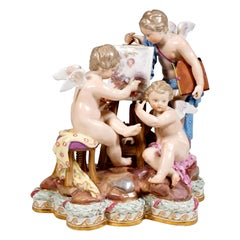 Meissen Group 'Allegory Of Painting' for Catherine II of Russia, Kaendler c 1860