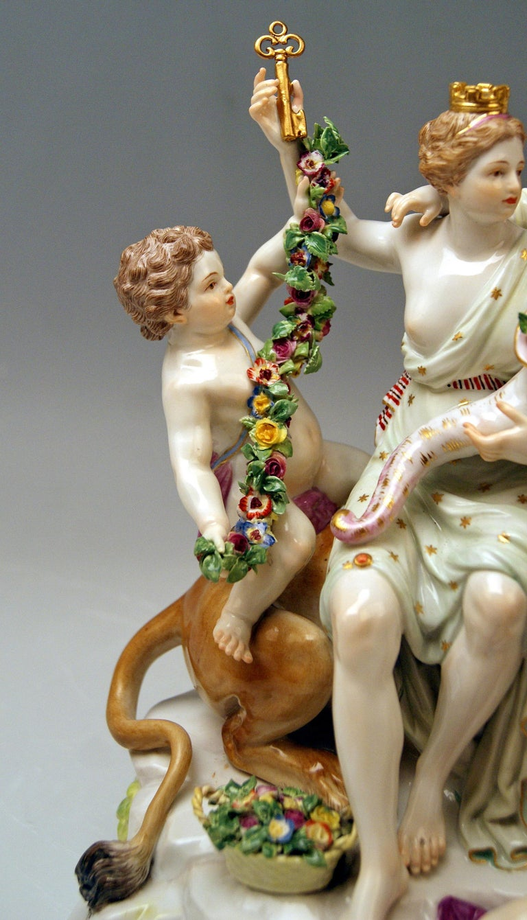 Meissen Group Six Figurines Allegory of Earth by Acier Model D 83 In Good Condition For Sale In Vienna, AT