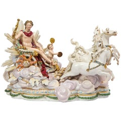 Meissen Grouping of Apollo's Sun Chariot with Sun Putti for Catherine the Great