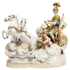 Meissen Grouping of Mars's War Chariot with War Putti for Catherine the Great