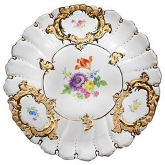 Meissen Hand Painted Gilded Porcelain Plate