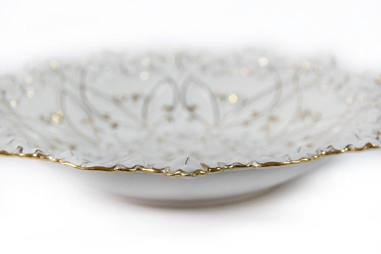 German Meissen Hand Painted Porcelain Plate For Sale