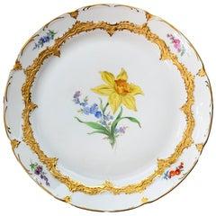 Meissen Hand Painted Porcelain Plate