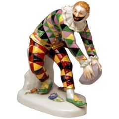 Meissen Harlequin Greeting Model 632 64529 Johann J. Kändler Made 20th Century
