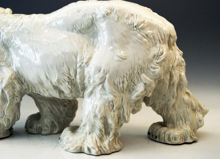 German Meissen Ice Bear Animal Figurine Model T 181 Jarl Otto Made, circa 1935 For Sale