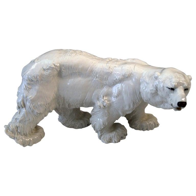 Meissen Ice Bear Animal Figurine Model T 181 Jarl Otto Made, circa 1935 For Sale