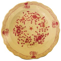 Meissen Large Round Platter in the Meissen Purple Indian Pattern