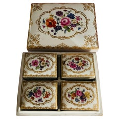 Meissen Late 19th Century Box with Four Smaller Boxes Inside It