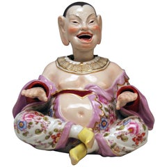 Meissen Male Buddha Movable Hands Head Tongue by Kändler Model 153 made
