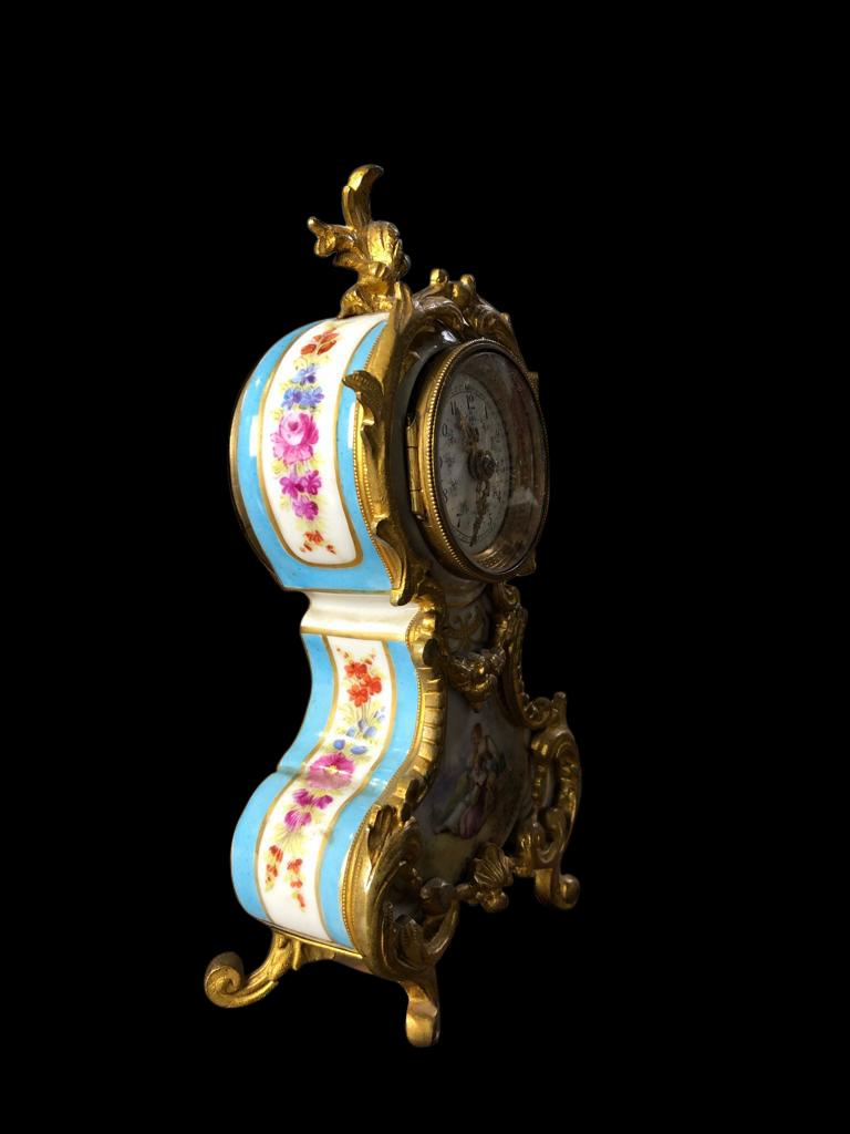 Meissen Mantle Table Clock, 19th Century For Sale 5