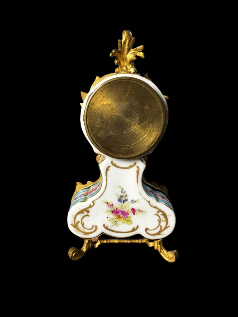 Meissen Mantle Table Clock, 19th Century For Sale 1