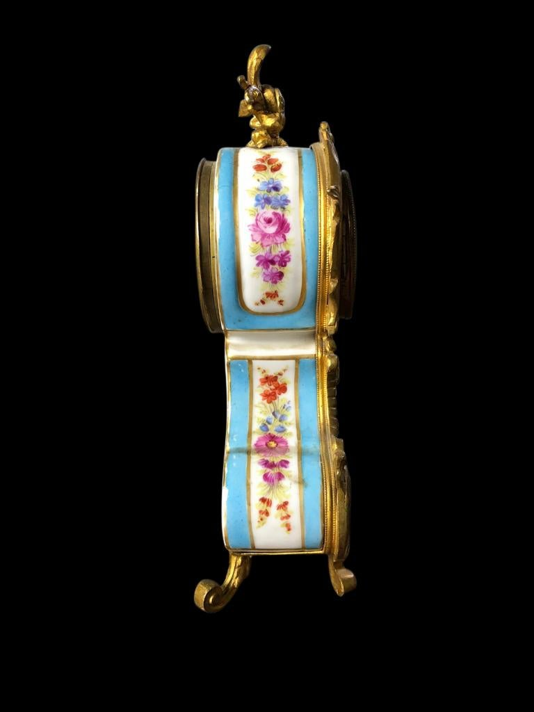 Meissen Mantle Table Clock, 19th Century For Sale 3