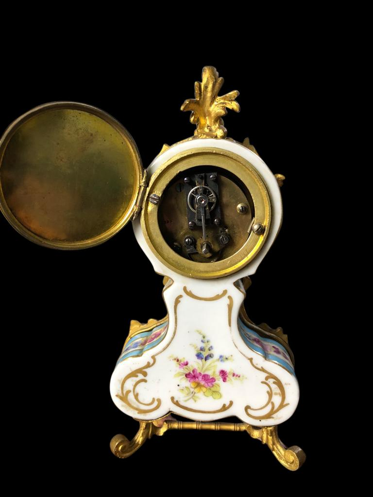 Meissen Mantle Table Clock, 19th Century For Sale 4