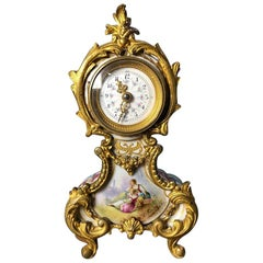Meissen Mantle Table Clock, 19th Century