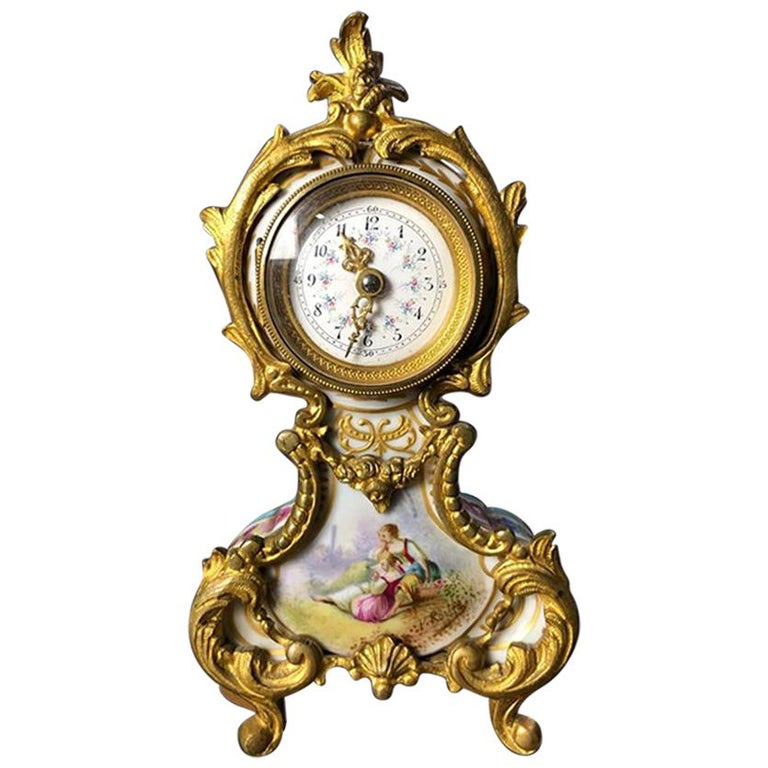 Meissen Mantle Table Clock, 19th Century For Sale