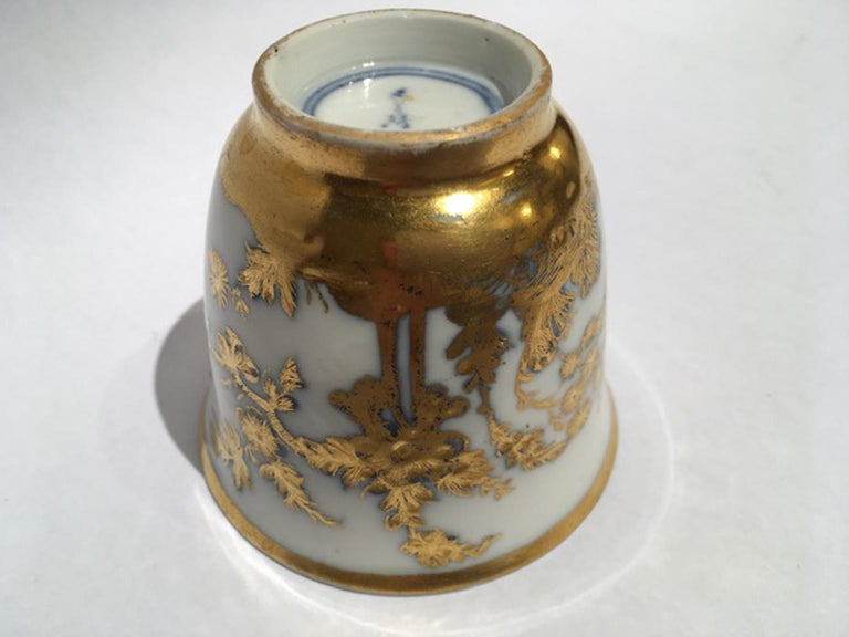 Meissen Mid-18th Century Cup White Porcelain with Golden Drawings Japonese Style For Sale 14