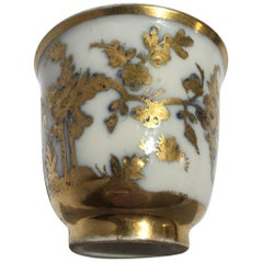 Meissen Mid-18th Century Cup White Porcelain with Golden Drawings Japonese Style