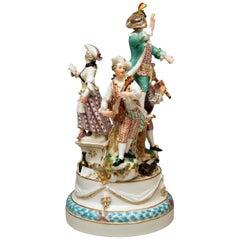 Meissen Musicians Four Figurines Johann J. Kändler Pre-Marcolini Period 1774