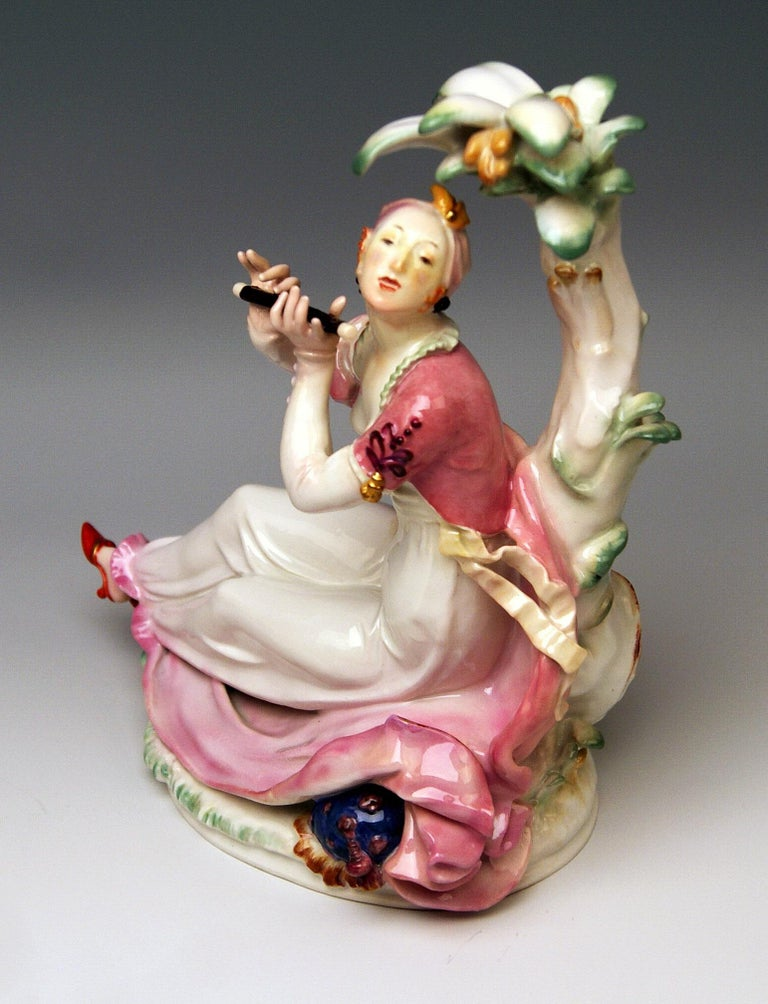 Painted Meissen Pair of Oriental Figurines A 1146 67073 Scheurich Made 20th Century For Sale