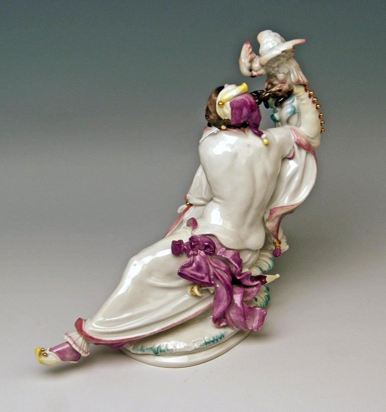 Late 20th Century Meissen Pair of Oriental Figurines A 1146 67073 Scheurich Made 20th Century For Sale