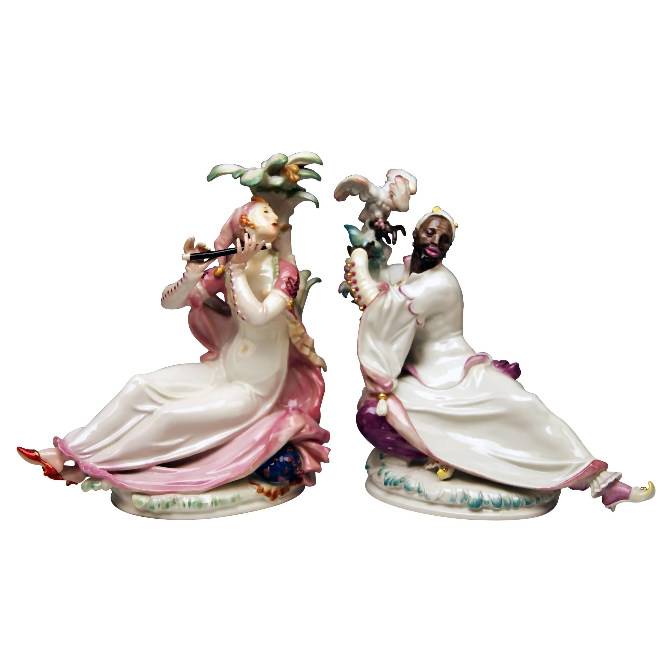 Meissen Pair of Oriental Figurines A 1146 67073 Scheurich Made 20th Century