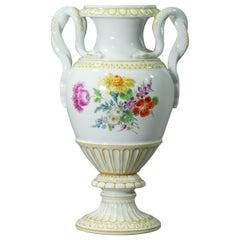 Meissen, Pfeiffer Period Snake Handled Vase Model E153