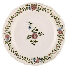 Meissen Plate in Hand Painted Porcelain with Floral Decoration. 20th Century