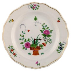 Meissen Plate in Hand Painted Porcelain with Floral Motifs, Early 20th Century