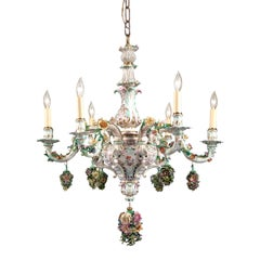 Meissen Porcelain 6-Light Chandelier