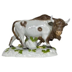 Meissen Porcelain Bison, c. 1890