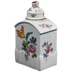 Meissen Porcelain Botanical Tea Caddy or Tea Canister, circa 1760