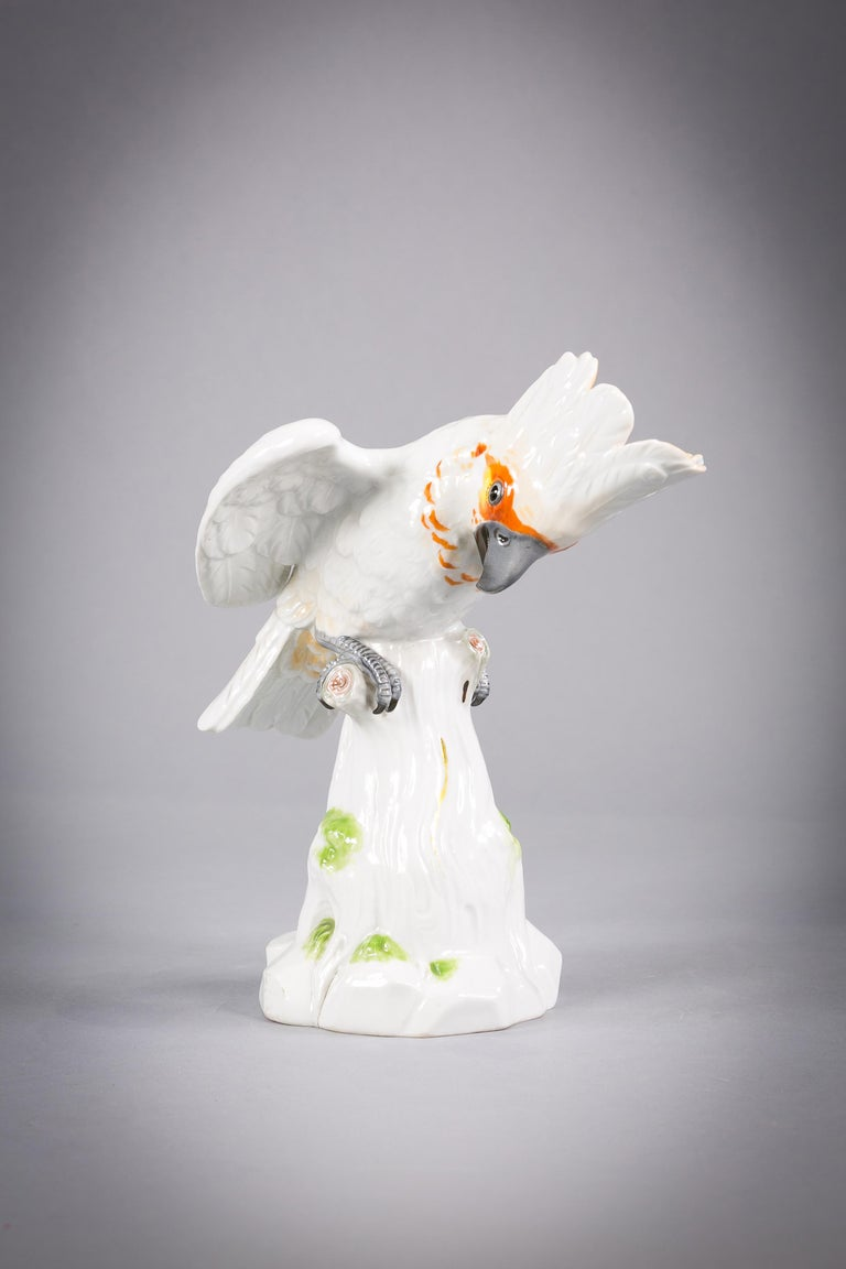 Meissen Porcelain Cockatoo Bird, circa 1880 In Good Condition For Sale In New York, NY
