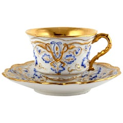 Meissen Porcelain Cup with Saucer