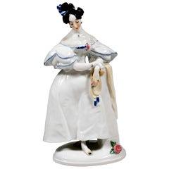 Meissen Porcelain Figure 'Biedermeier Lady' by Paul Scheurich, 1924-1934