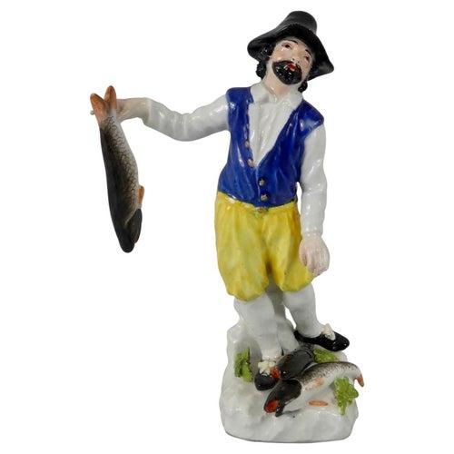 Meissen Porcelain Figure 'Dutch Fisherman', Modelled by Reinicke, circa 1745