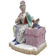 """Meissen Porcelain Figure from the Series 5 Senses """"The Face"""""""