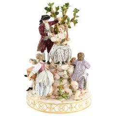 Meissen Porcelain Figure Grouping