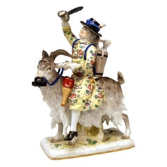 Meissen Porcelain Figurine Tailor Riding on Goat by Kaendler Model 171