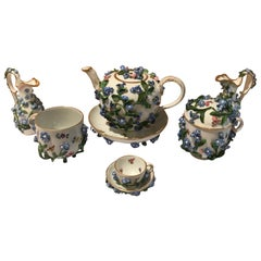 Meissen Porcelain 'Forget Me Not' Tea Set