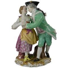 Meissen Porcelain Group of Dancers, circa 1770