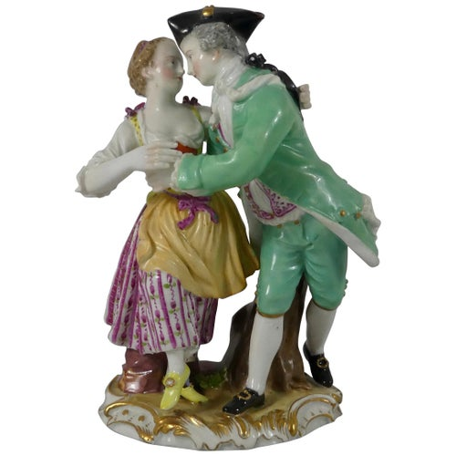 Meissen Porcelain Group of Dancers, circa 1770